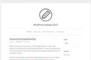 WordPress-työpaja-kurssi