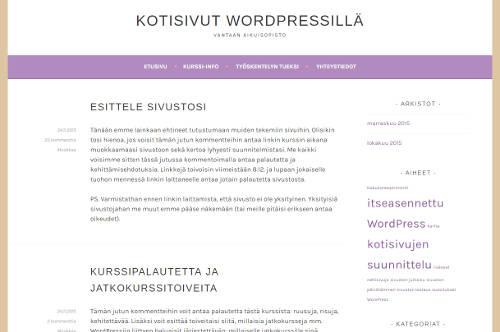 Kotisivut WordPressillä -kurssi